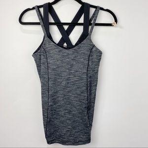 Lululemon double strap grey tank top